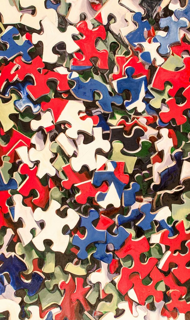 Flag on puzzle, 2012